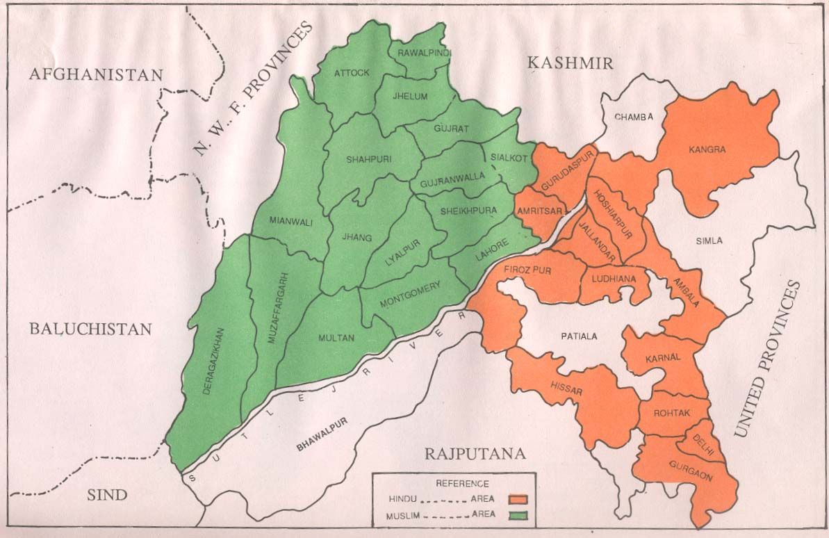 political map of state punjab before 1947 - Google Search