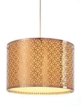 This Belize Metal Ceiling Lamp Shade Could Be Used On The Landing Close To The Travel Poster
