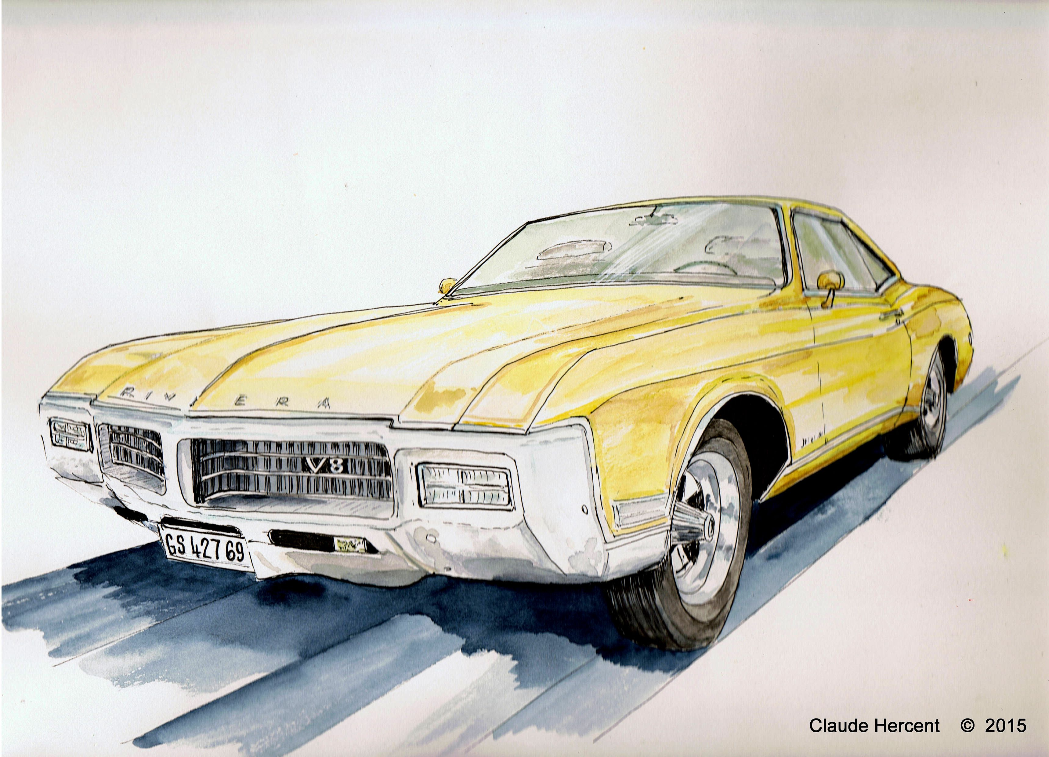 Sketch buick riviera gs 427 feutre fin garage et feutres for Garage pour revision