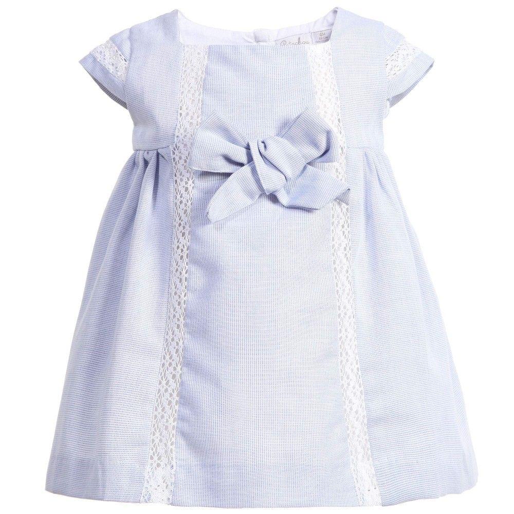 b8f81a1aa878 Patachou Baby Girls Blue Striped Cotton Dress at Childrensalon.com ...