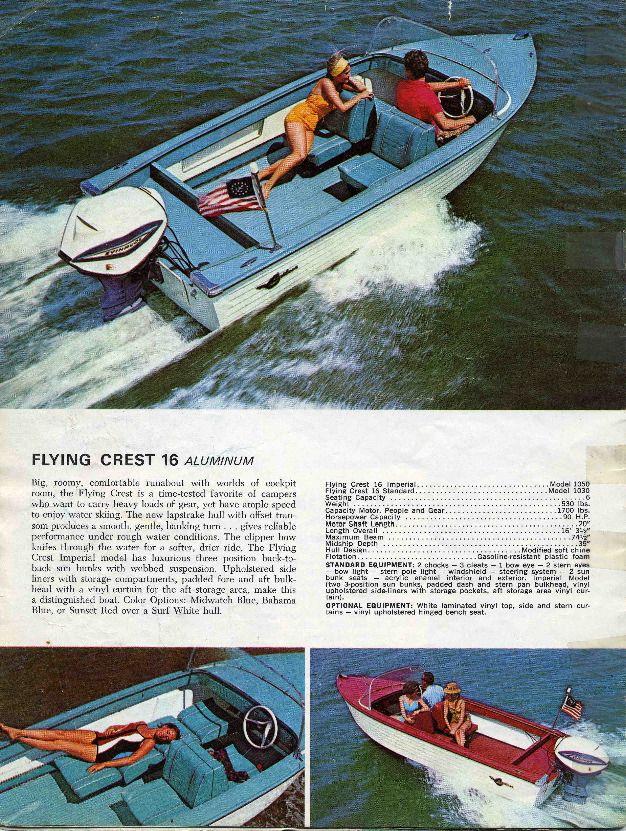 1965 Crestliner Flying Crest Boats Pinterest Boat Vintage