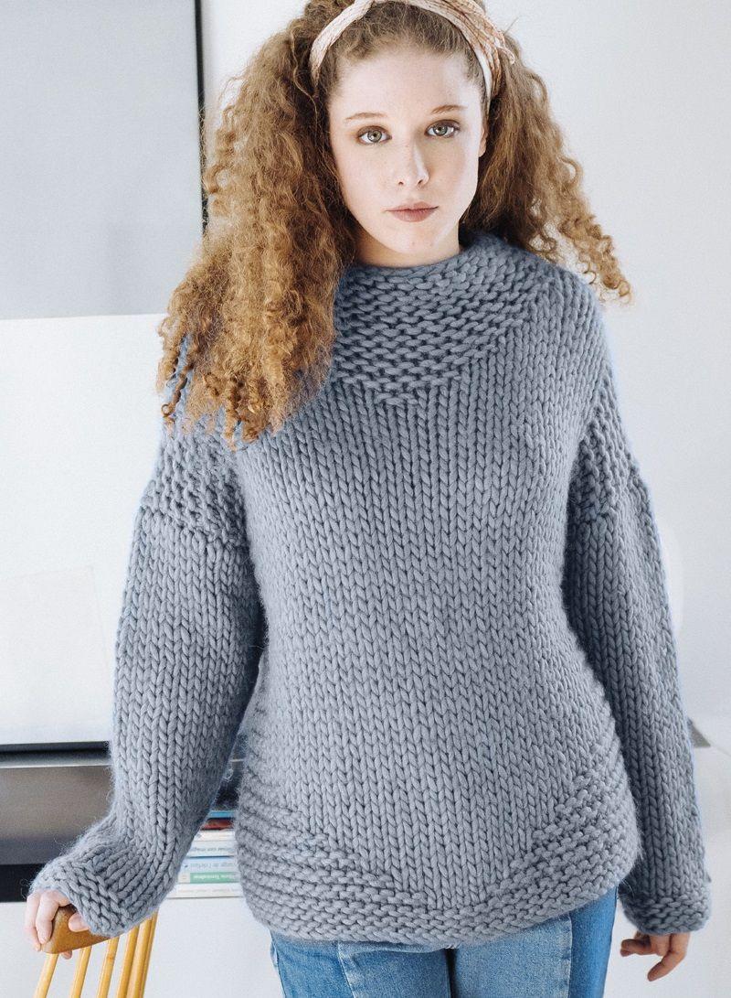 bcb8e8a3b433d1 Free Knitting Pattern for a Bulky Yarn Sweater