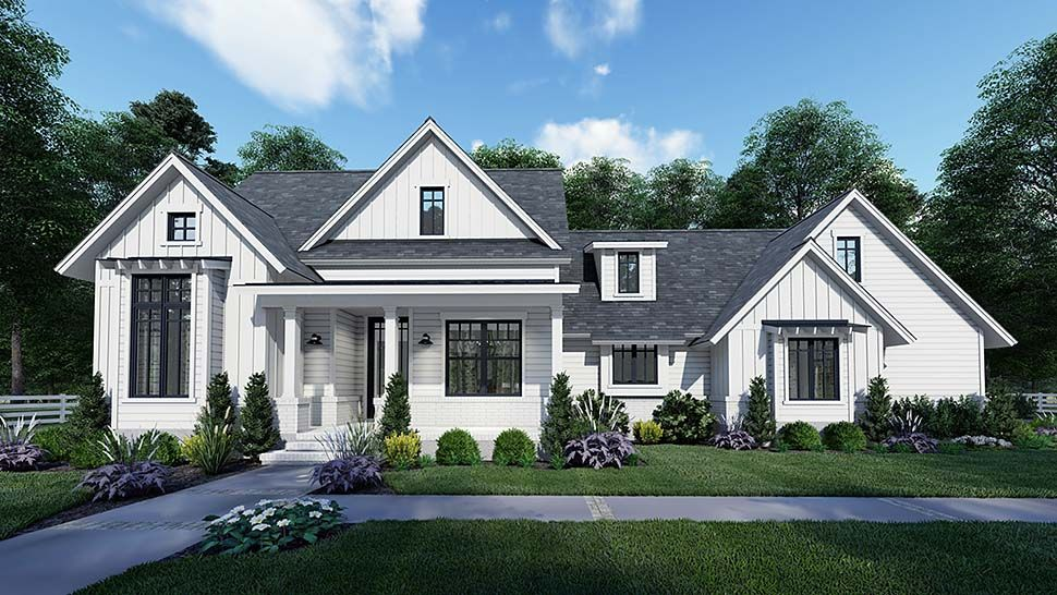 Southern Style House Plan 75159 With 3 Bed 2 Bath 2 Car Garage