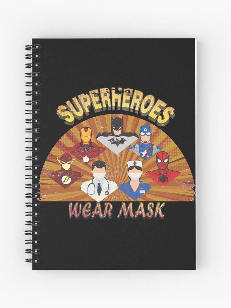 Healthcare Provider Superheroes Vintage Spiral Notebook By Poloy In 2020 Superhero Healthcare Provider Vintage
