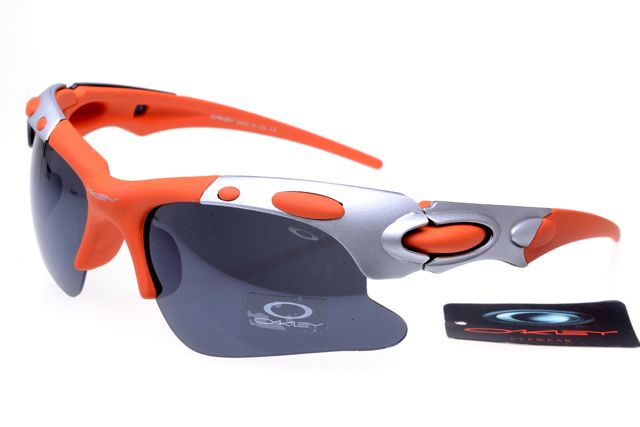 oakley cheap  Oakley Polarized Hijinx Sunglasses Silver Orange Frame Black Lens ...