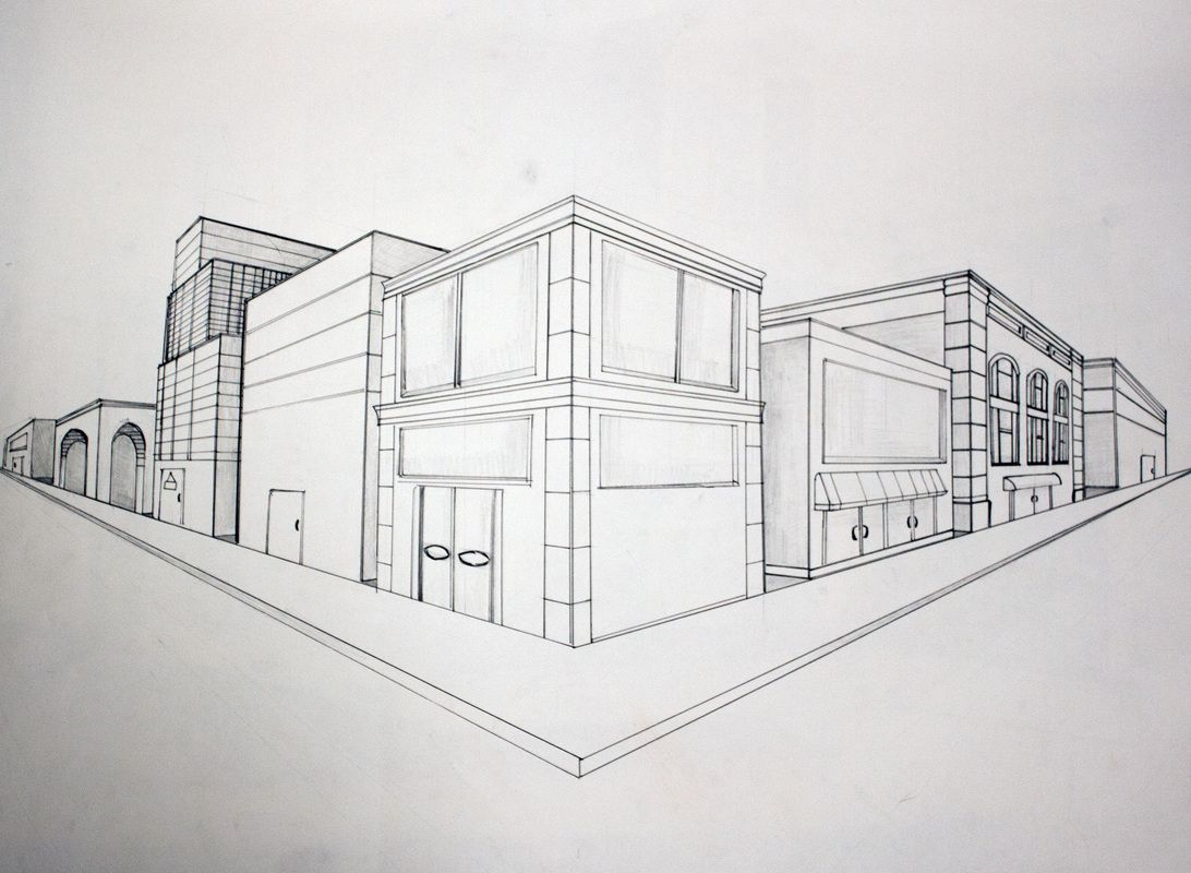Dessin Immeuble En Perspective Two Point Perspective Perspective Unit In 2019 2 Point