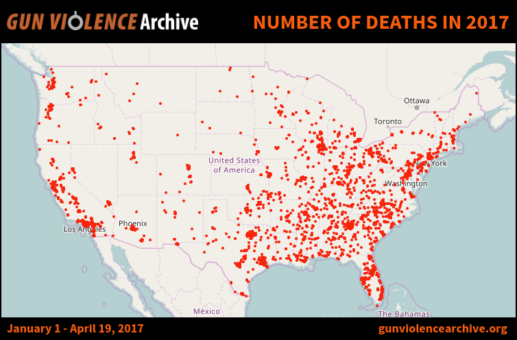 Number of Deaths in 2017 Gun Control Pinterest