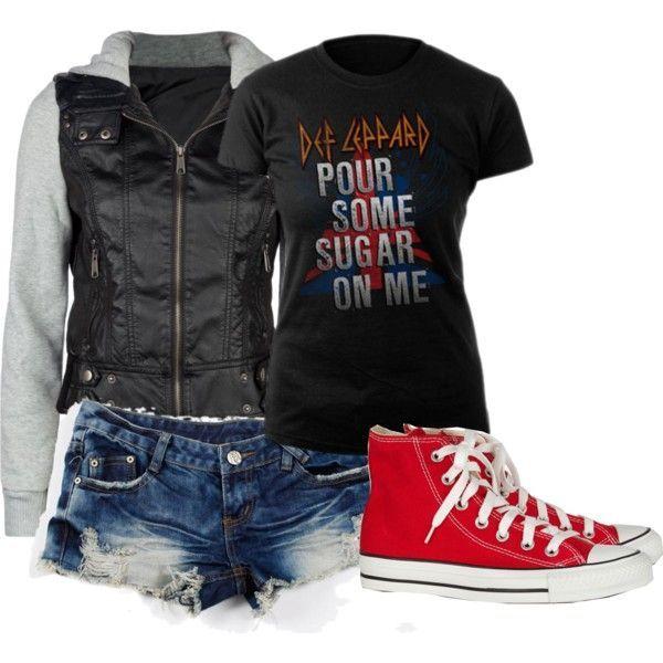 36c49eb93b9e4 Def Leppard concert outfit.