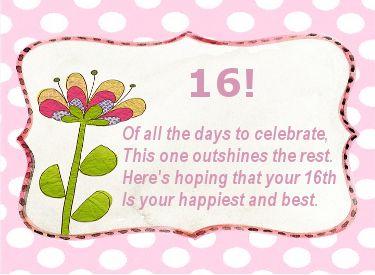 Verjaardag Gedicht 16 Jaar Sweet Sixteen Verjaardagswensen Sweet