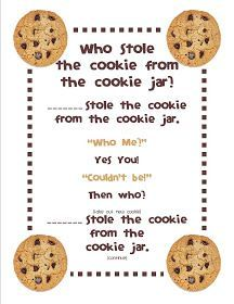 Who Stole The Cookie From The Cookie Jar Lyrics Impressive Mrsgilchrist's Class Who Stole The Cookie From The Cookie Jar Decorating Design