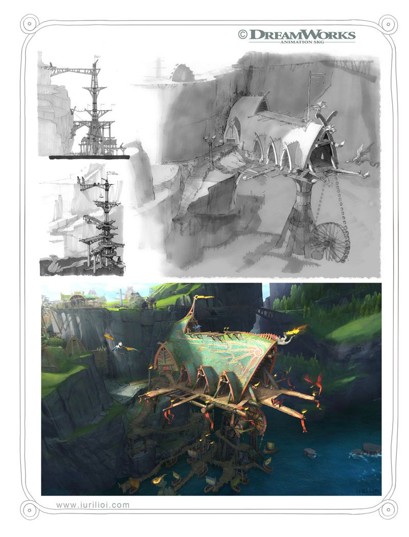 Concept Arts de Iuri Lioi para How to Train Your Dragon 2 | THECAB - The Concept Art Blog