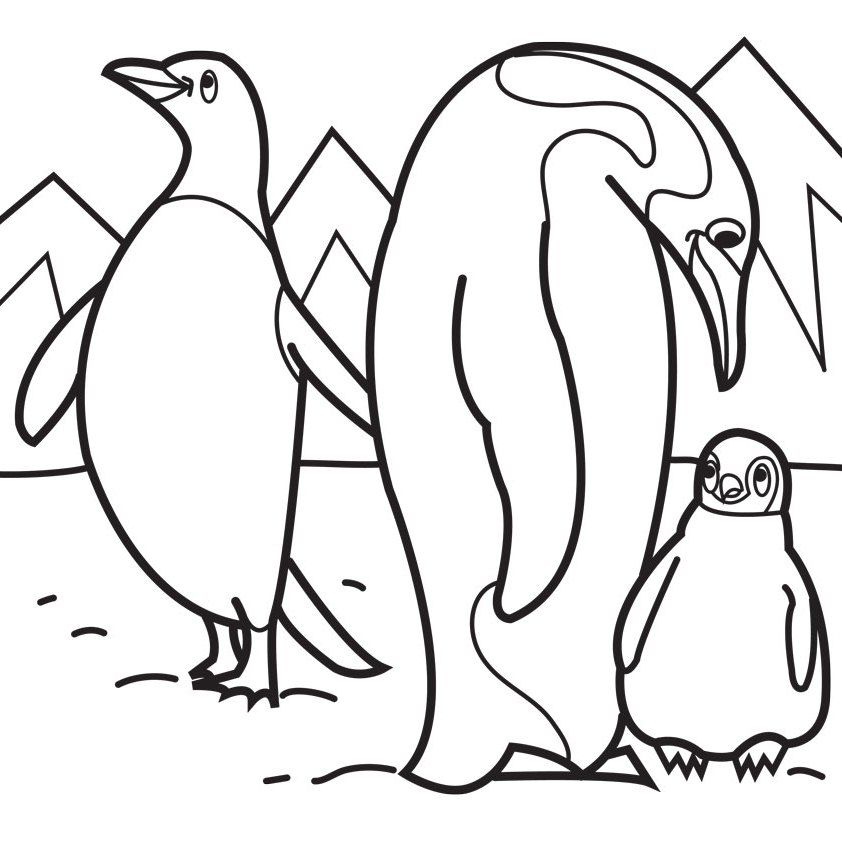 Penguin Family Coloring Pages Family Coloring Pages Animal Coloring Pages Penguin Coloring