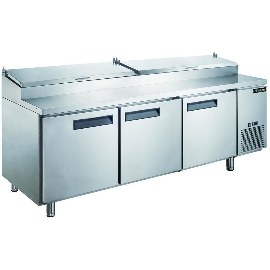 Commercial kitchen refrigerated pizza prep table 90