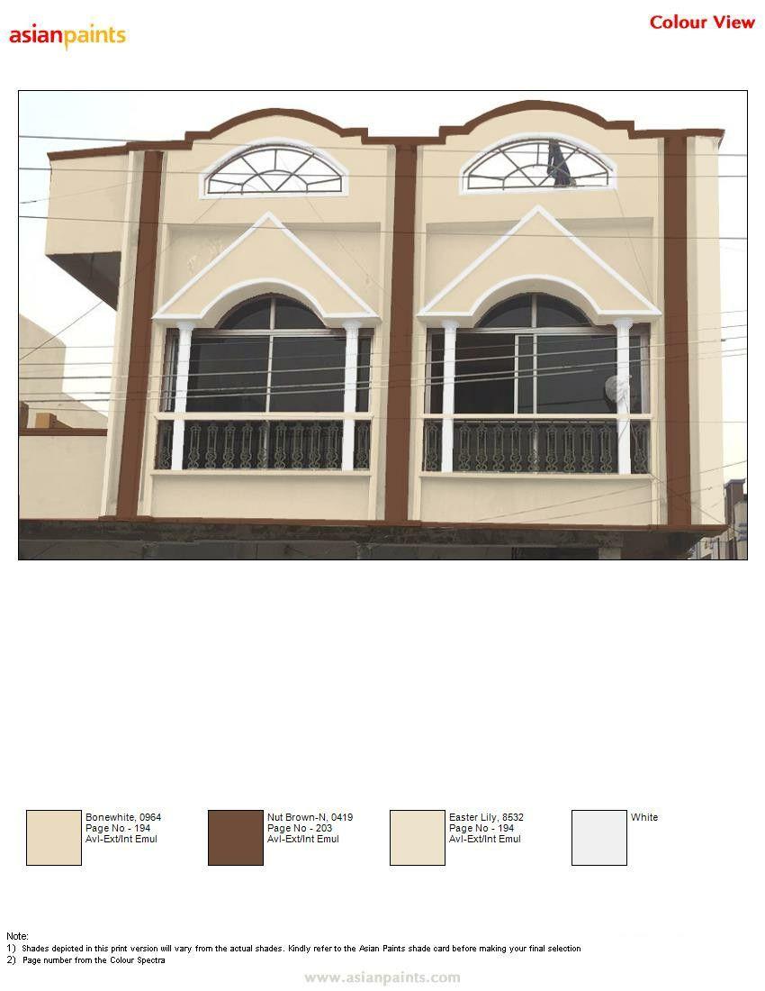 Pin By Shezad Khan On Top 200 Asian Paints Color Views House Paint Exterior Exterior Color Combinations House Front Design