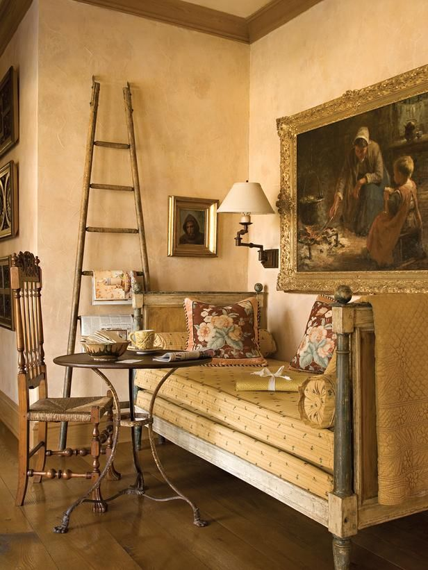 English country living rooms from barry dixon on hgtv for French country wall paint colors