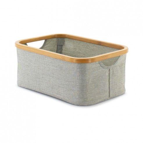 "Decorative Plastic Storage Boxes With Lids Small Gray 1025"" X 15"" Ecofabric Bin  Fabric Bins Storage And"