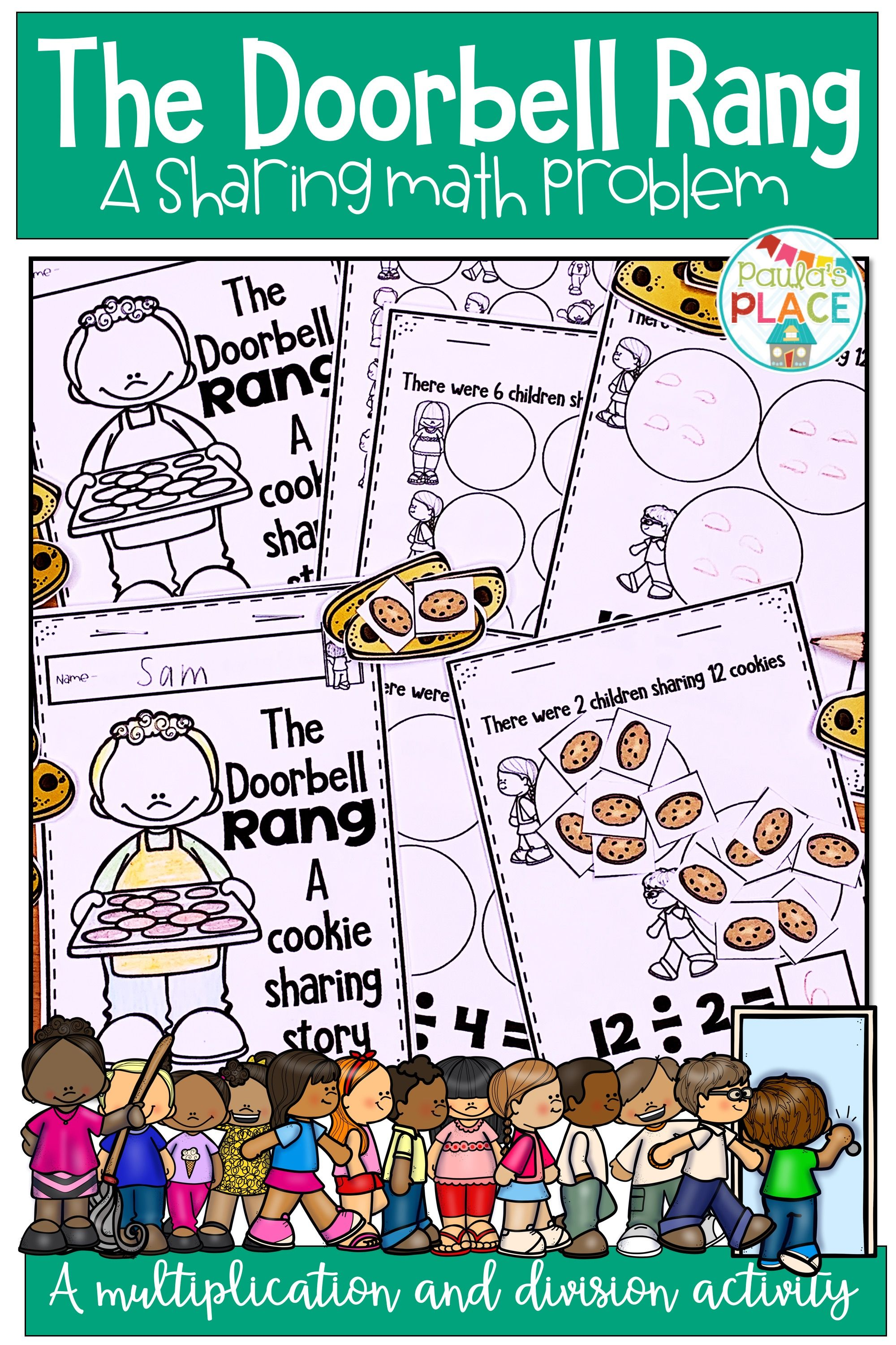 Read Through The Doorbell Rang And Experiment With Division And Multiplication Stra Ring Doorbell Third Grade Multiplication Facts Common Core Math Fractions