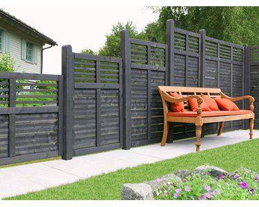 Sichtschutzzaun Element Limone Geschlossen Anthrazit 180 Cm X 180 Cm In 2020 Sichtschutzzaun Zaun Anthrazit Und Obi