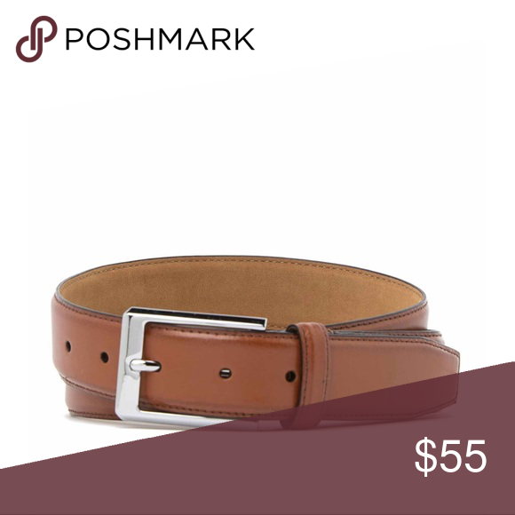 COLE HAAN MEN/'S BELT PERFORATED LEATHER IN DARK BROWN SIZE 38 BRAND NEW W//TAGS