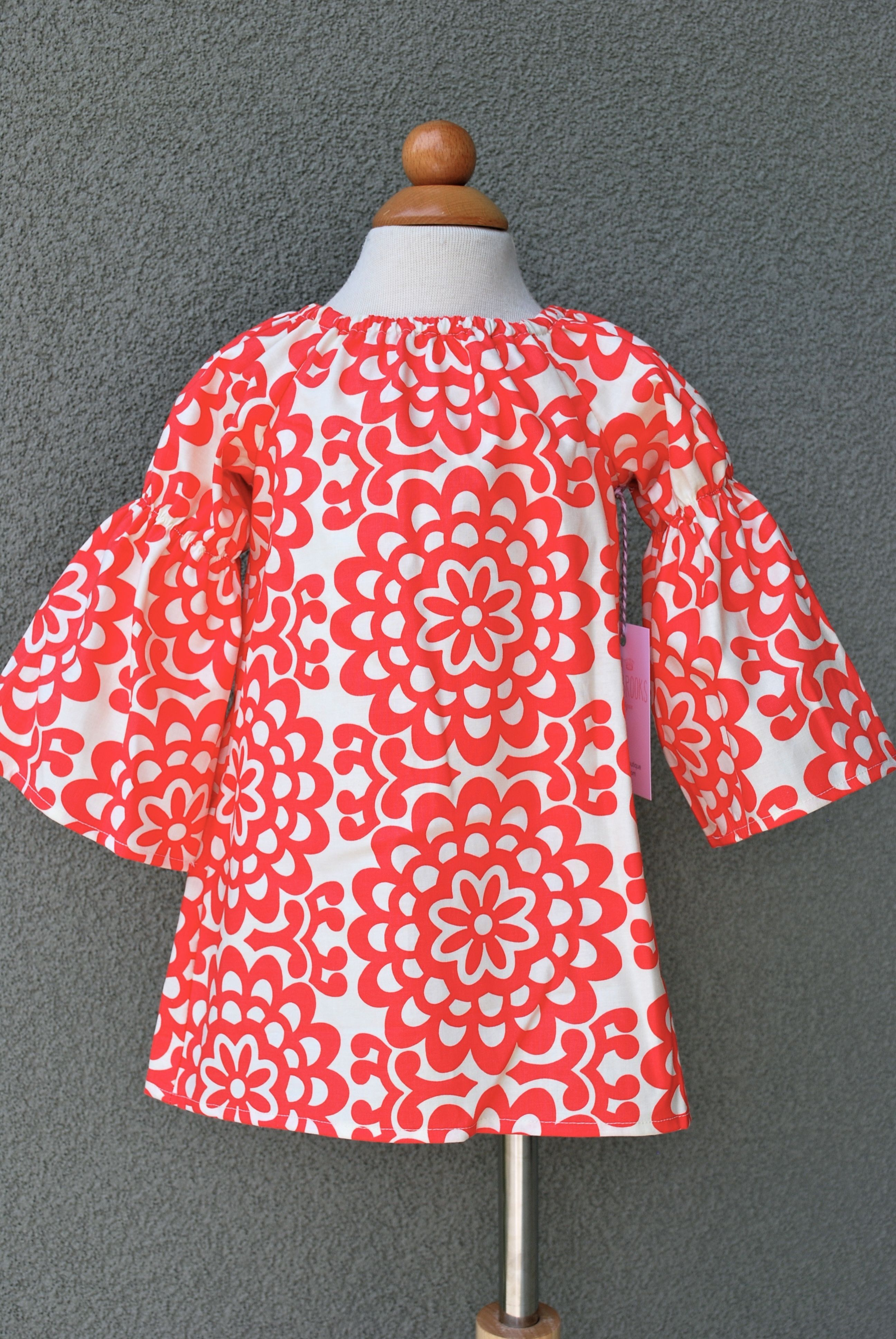 Amy Butler Lotus cherry/ivory dress $38 www.facebook.com/ellabrooksboutique