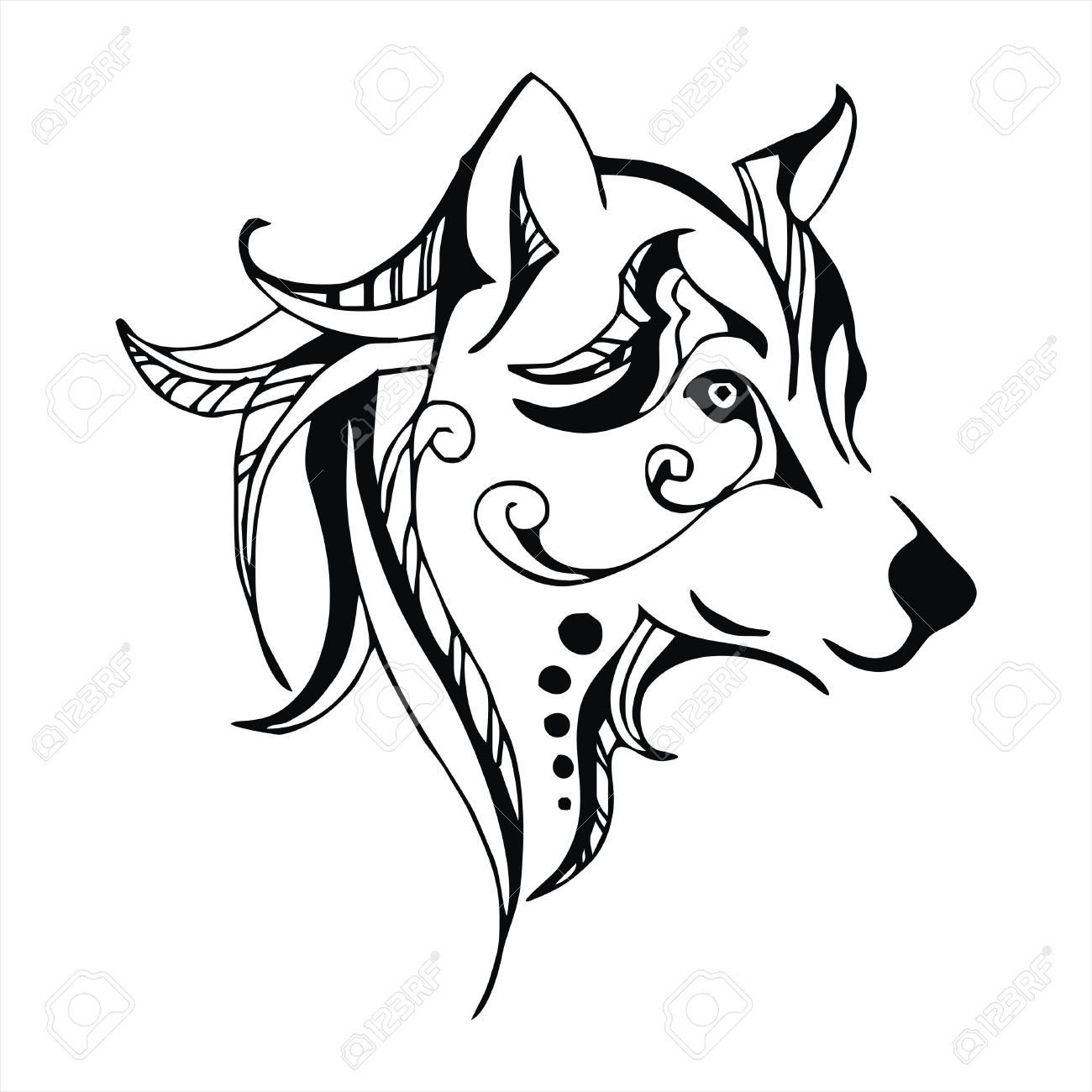 Tatuajes De Lobos Tribales Aullando