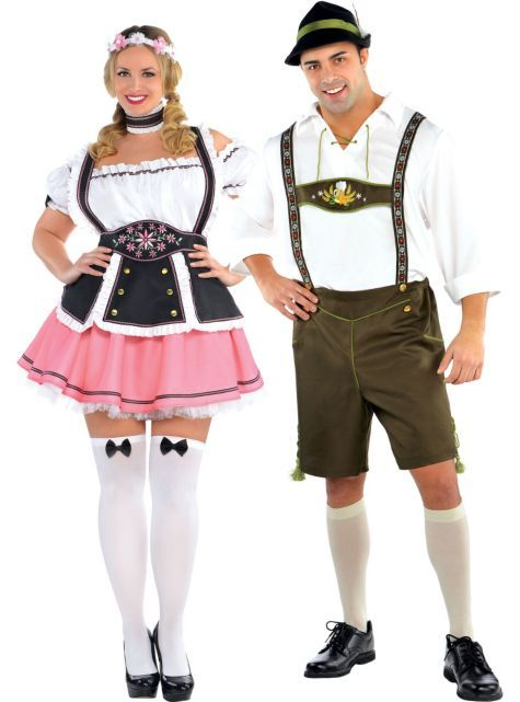 Plus Size Bavarian Couples Costumes - Party City Halloween