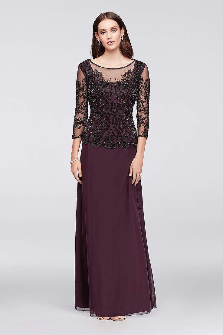 8cadfa9ec69 Long A-Line 3 4 Sleeves Formal Dresses Dress - Pisarro Nights ...