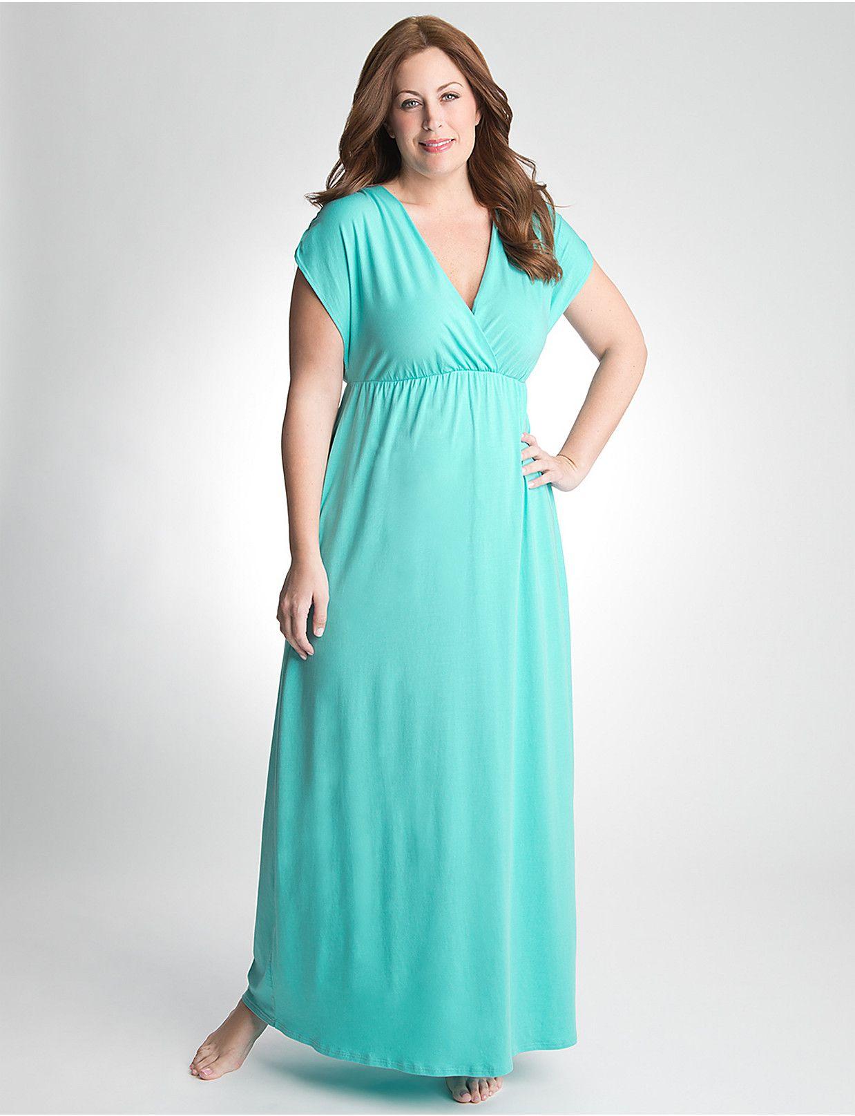 e98f29aaf Plus Size Maxi Dress Swim Cover Up by Cacique