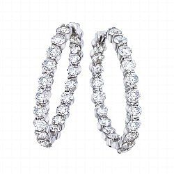 Von Bargen's Jewelry - The Perfect Diamond Hoop, 35mm - 000784AWERX0