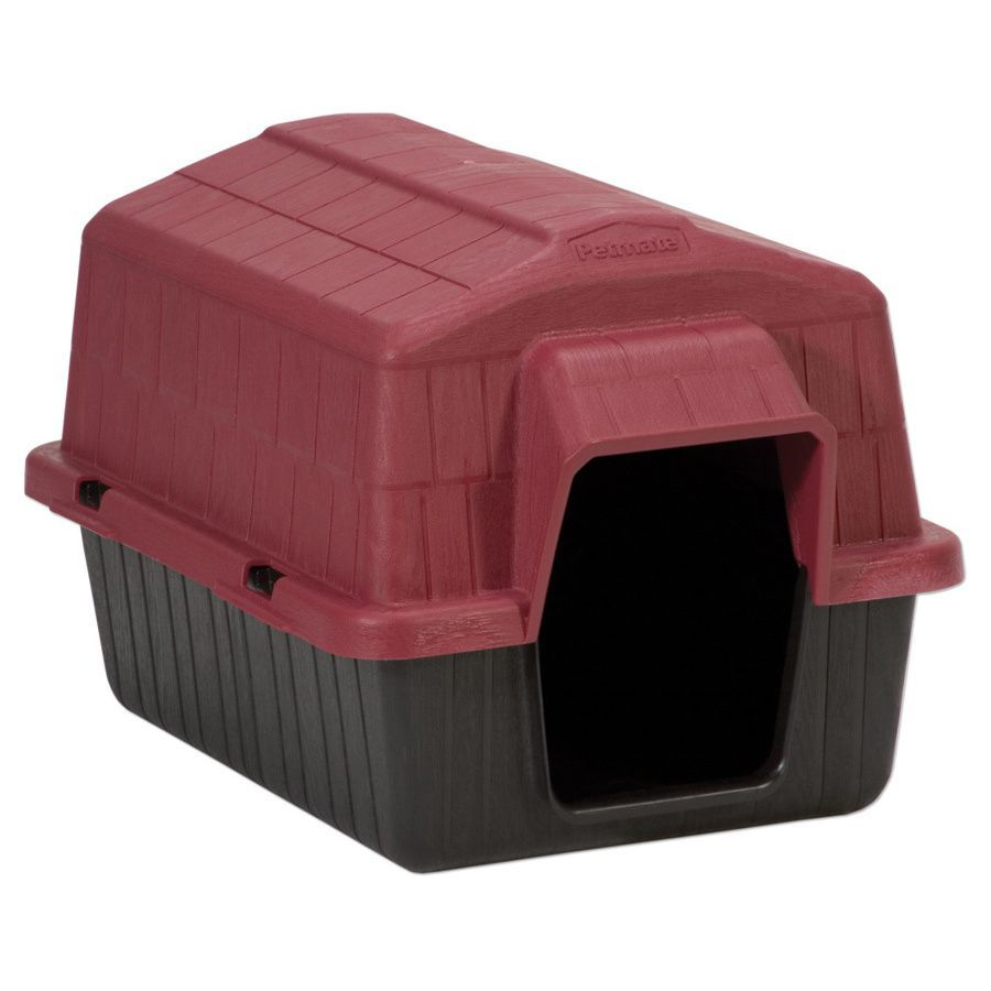 Petmate Barnhome Plastic Dog House Red Black Extra Small