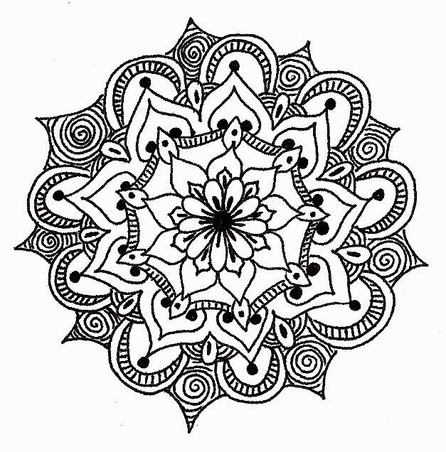 Mandala Monday (Day 573) on Doodle Daily. Beautiful henna-esque ...