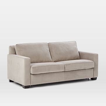 Henry Pull Down Full Sleeper Sofa Dove Gray Performance Velvet