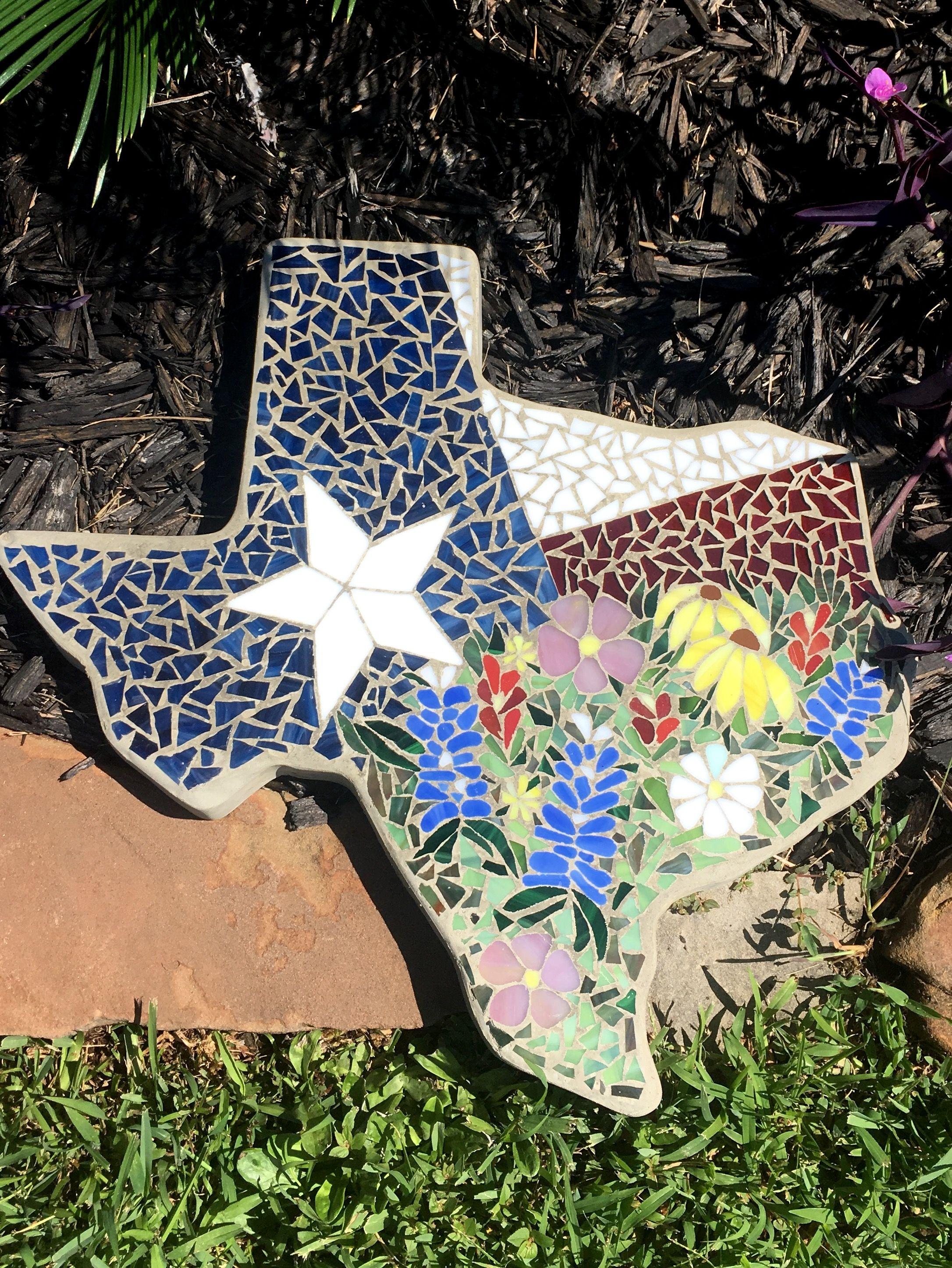 Texas Wildflower Mosaic//Texas//Custom yard and garden decor