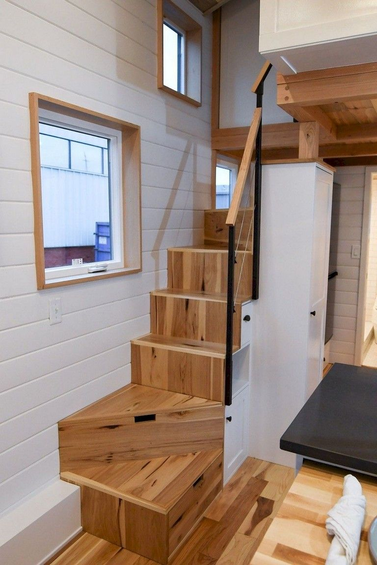 21+ Smart Tiny House Loft Stair Ideas - Page 21 of 21  Kleines
