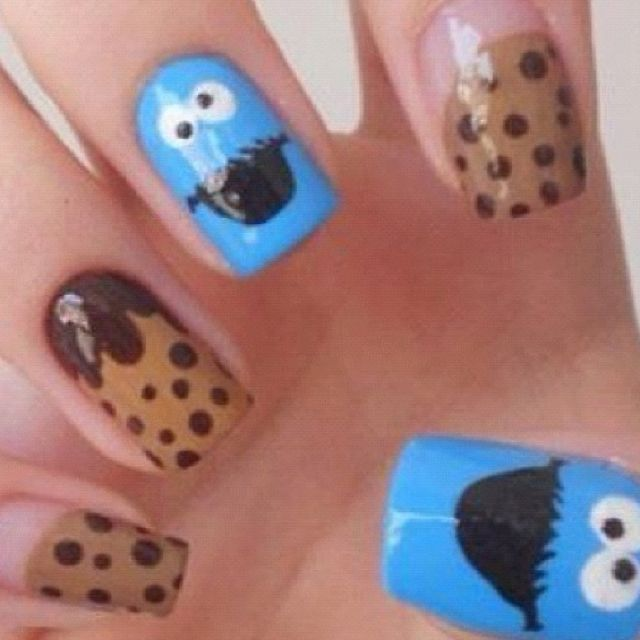 Cookie monster nails.