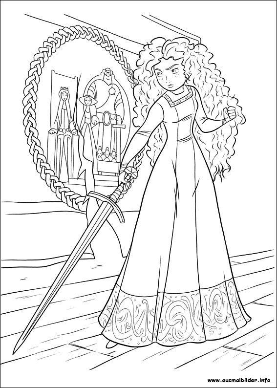 Merida Legende Der Highlands Malvorlagen Kindertisch