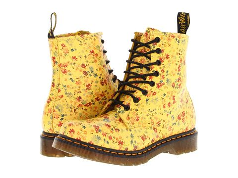 Dr. Martens 1460 8-Eye Boot Sun Yellow Little Flower  8081c73b4ca