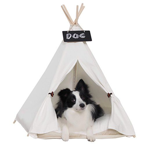little dove Pet Teepee Dog Cat Bed Portable Dog Tents Pet Houses for Small Dogs Beige  sc 1 st  Pinterest & little dove Pet Teepee Dog Cat Bed Portable Dog Tents Pet Houses ...