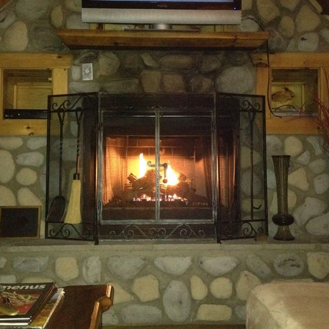 Looks like the townhouse fireplace in Gatlinburg  on our family vacation.