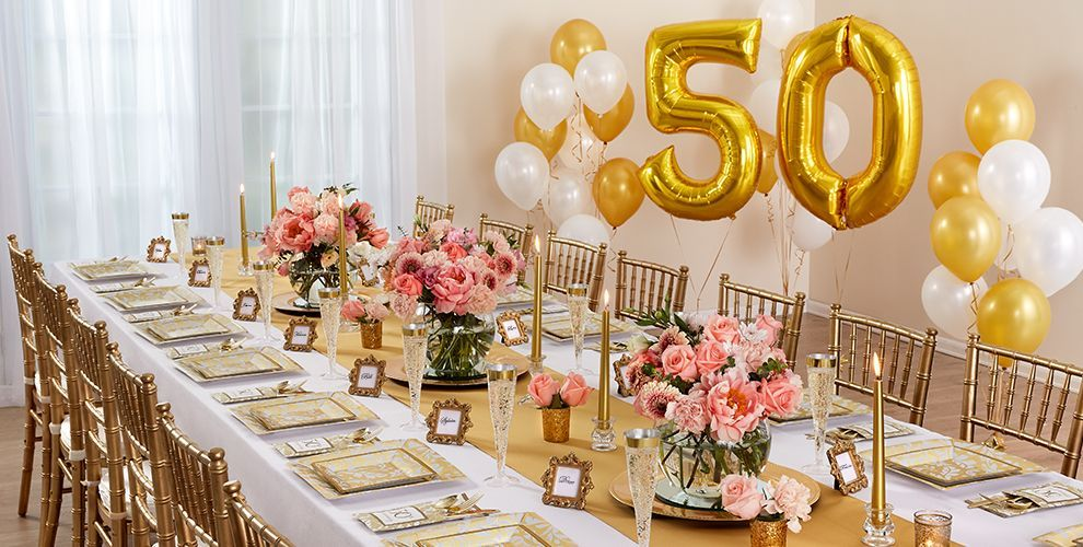 Golden 50th Anniversary Party Supplies 50th Wedding Anniversary Decorations 50th Wedding Anniversary Party 50th Anniversary Decorations