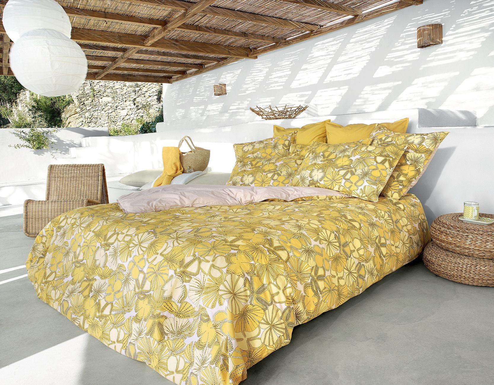 linge de lit jalla janis nouvelle collection jalla housse de couette drap plat taie d. Black Bedroom Furniture Sets. Home Design Ideas