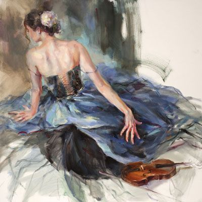 Emphasis I  Limited Edition Print by Anna Razumovskaya is part of Anna razumovskaya, Figurative artwork, Ballet painting, Art, Painting, Ballet art - Emphasis I by Anna Razumovskaya  Anna is best known for her figurative paintings depicting dancers, musicians and romance   Art Leaders Gallery 248 539 0262