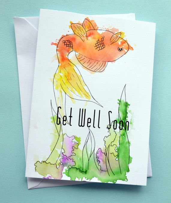Funny Dead Fish Get Well Soon Get Well Soon Card By Itchy Avocado