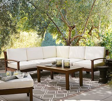 Chatham 5 Piece Sectional Honey Patio Furniture Sets