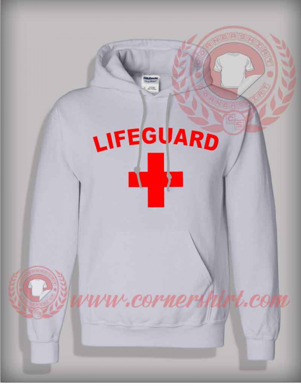 fe67b51be0a Lifeguard Logo Pullover Hoodie on sale By cornershirt.com in 2018 ...