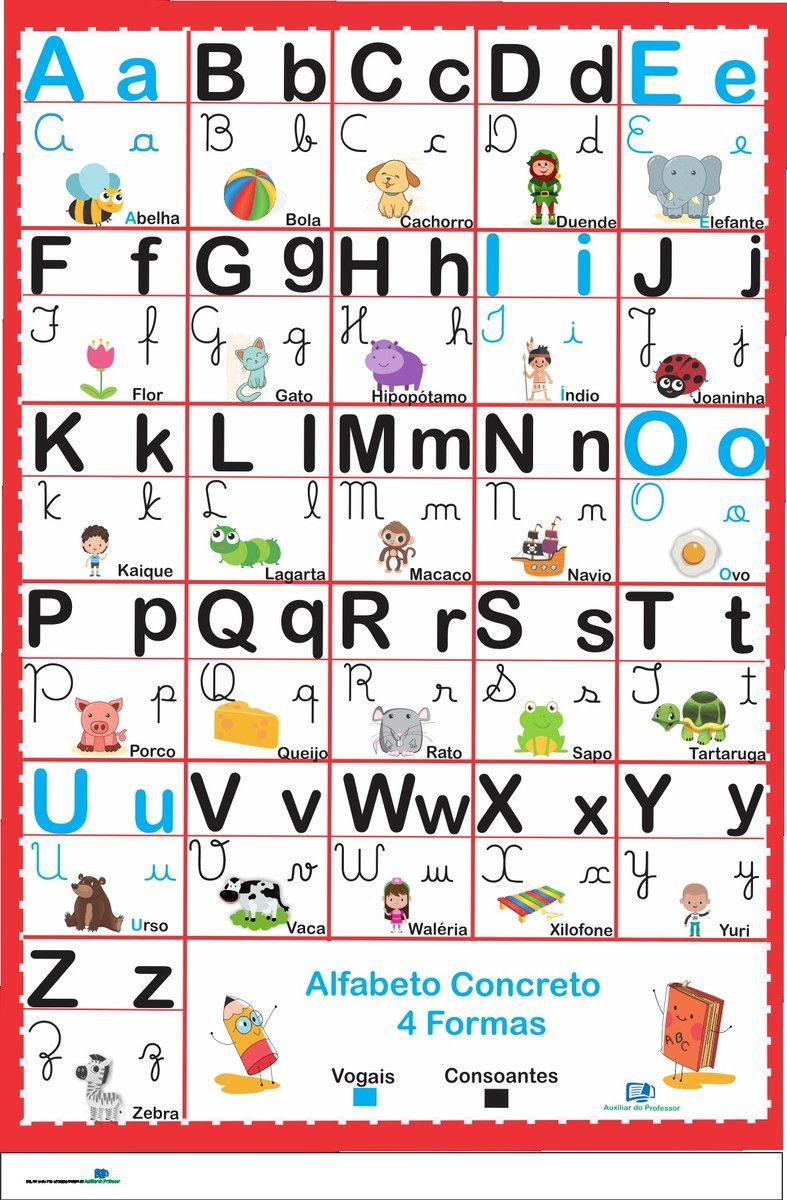Alfabeto Concreto 4 Formas Vermleho Leitura Na Educacao Infantil
