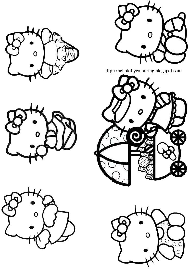 This Hello Kitty coloring page shows Hello Kitty looking very cute ...