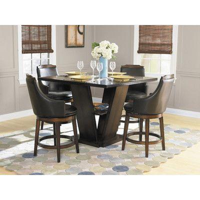 Woodbridge Home Designs Bayshore 5 Piece Counter Height Dining Set ...