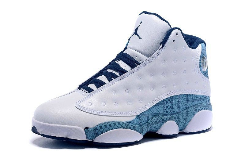 brand new 8be81 30bb9 ... discount 2018 authentic air jordan 13 xiii quai 54 white navy blue  legoon hornets size us