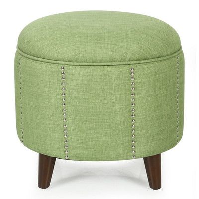 ... Tufted Lift Round Storage Ottoman Upholstery: Green    Http://delanico.com/ottomans/button Tufted Lift Round Storage Ottoman  Upholstery Green 631030400/